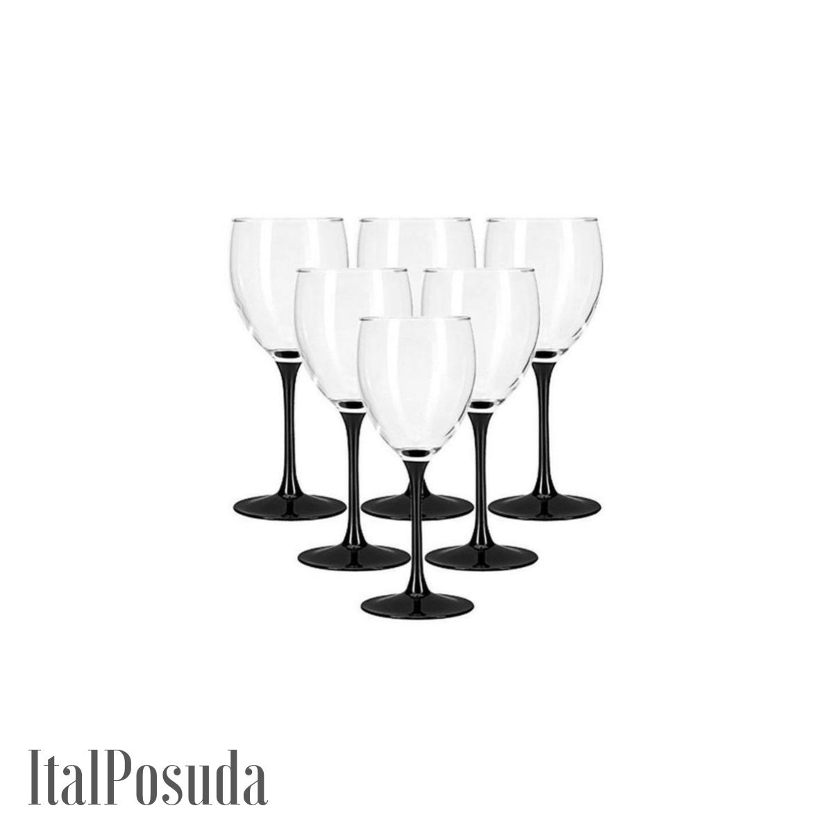 Набор бокалов для вина Luminarc Domino (Домино), 6 шт H8169