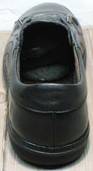 Черные кроссовки с черной подошвой мужские кожаные весна осень Novelty 5235 Black.