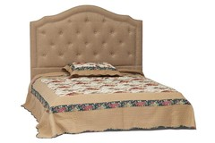 Кровать Secret De Maison Lorena (Лорена) 6375 дерево гевея, ткань: полиэстер/хлопок, 140х200см, Cappuchino , бежевый