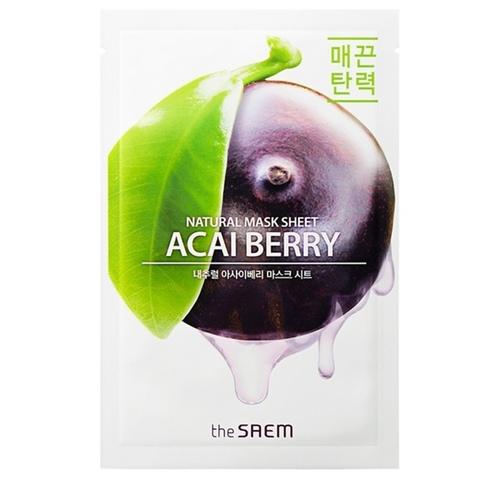 Маска для лица  с экстрактом ягод асаи Natural Acai Berry Mask Sheet