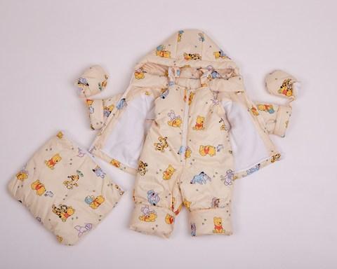 Демисезонный комбинезон тройка для малышей 0-2 года Look Мишки