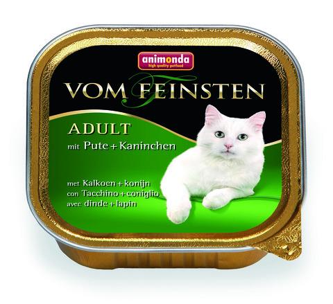 Консервы Animonda Vom Feinsten Adult с индейкой и кроликом для взрослых кошек
