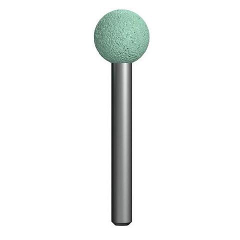 Шарошка абразивная ПРАКТИКА карбид кремния, шарообразная 16 мм, хвост 6мм, блистер