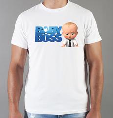 Футболка с принтом мультфильма Босс-молокосос (The Boss Baby) белая 007