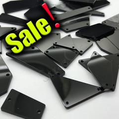 Купить максимальный набор черных пришивных зеркал Jet в интернете