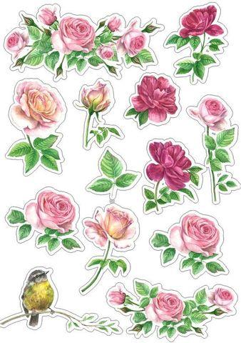 Печать на сахарной бумаге, Набор цветы 5
