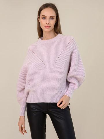Женский джемпер светло-розового цвета из мохера - фото 2