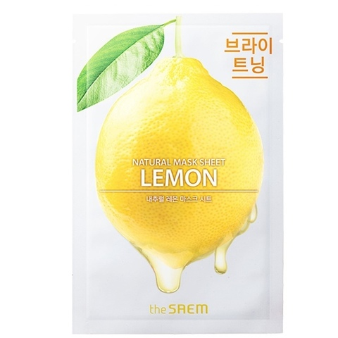 Маска для лица  с экстрактом лимона Natural Lemon Mask Sheet