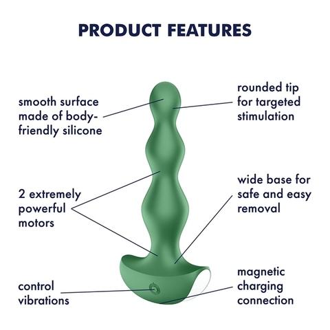 Satisfyer Lolli Plug 2 Анальный вибростимулятор Зеленый