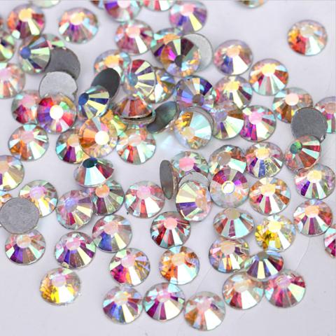 Стразы SS3 AB переливающийся кристалл 100 шт