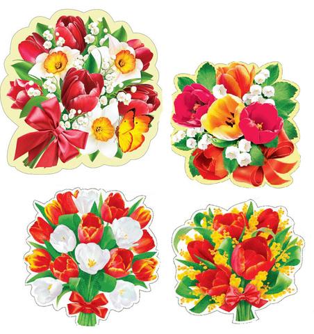 Печать на вафельной бумаге, Набор Цветы 13