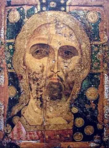Икона Спас Златые Власы 13 век на левкасе на дереве мастерская Иконный Дом