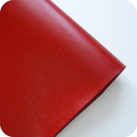 Кожзам переплетный глянцевый, красный