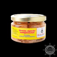 Печень трески натуральная, 200 г ст/б
