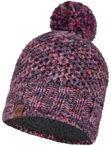 Шапка вязаная с флисом Buff Hat Knitted Polar Margo Purple фото 1
