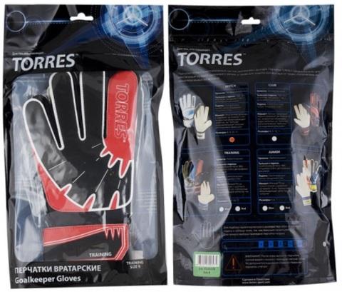 Перчатки вратарские TORRES Training FG050310-RD упаковка