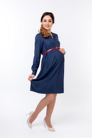 Платье для беременных и кормящих 10011 индиго