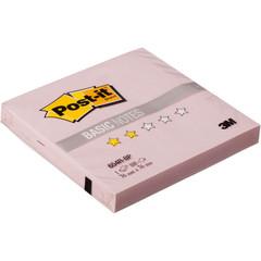 Стикеры Post-it Basic 76x76 мм пастельные розовые (1 блок, 100 листов)