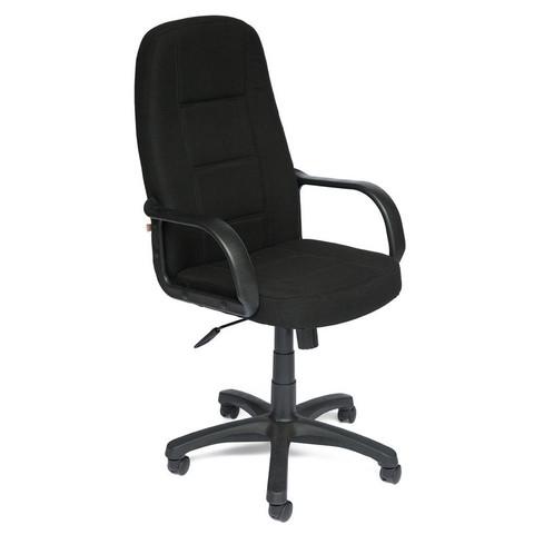 Кресло для руководителя 747 черное (ткань/пластик)