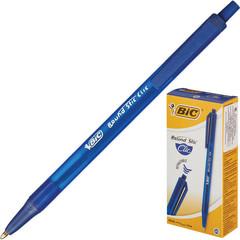 Ручка шариковая одноразовая автоматическая BIC Round Stic Clic синяя (толщина линии 0.4 мм)