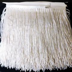 Купить оптом бахрому из стекляруса в интернет-магазине White AB белую