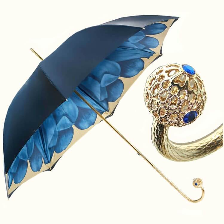 Зонт-трость Pasotti 189-21065-13 Blue Dahlia