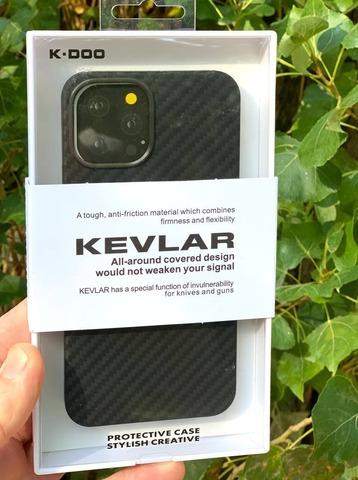 Чехол iPhone 12 Pro Max /6,7''/ K-DOO Kevlar case /black/