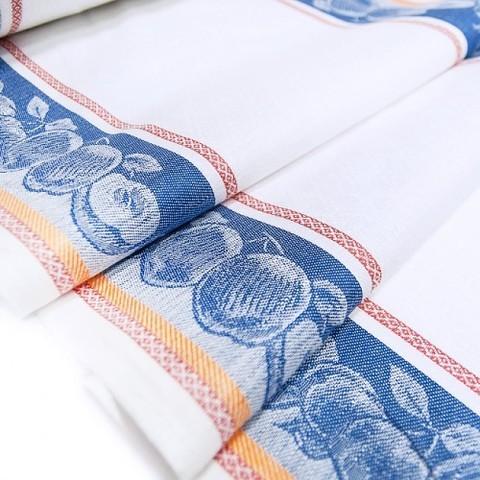 Полулен полотенечный 50 см Жаккард цвет синий