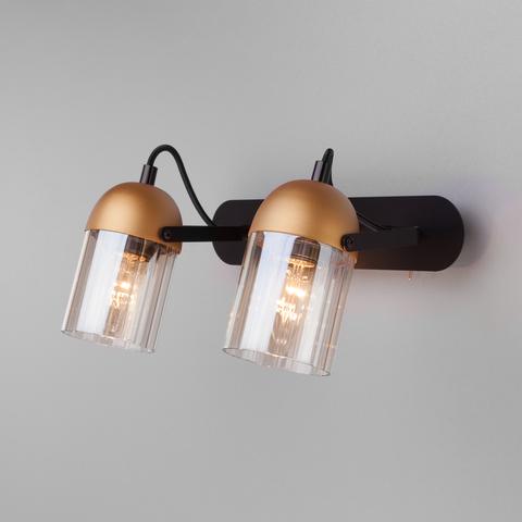 Настенный светильник с поворотными плафонами 20122/2 черный/золото