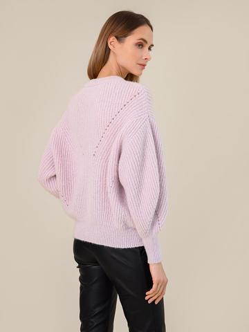 Женский джемпер светло-розового цвета из мохера - фото 4