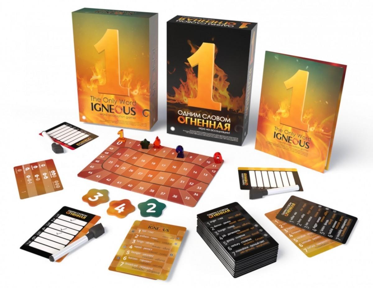 Настольная игра Одним Словом Огненная - комплектация