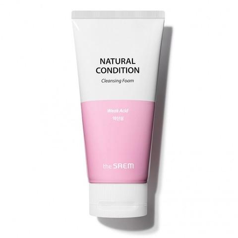 The Saem Natural Condition Weak Acid Cleansing Foam очищающая пенка для чувствительной кожи