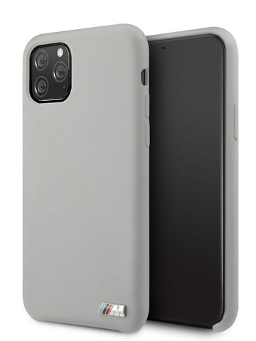 BMW / чехол для iPhone 11 Pro | M-Collection Liquid silicone Hard Grey