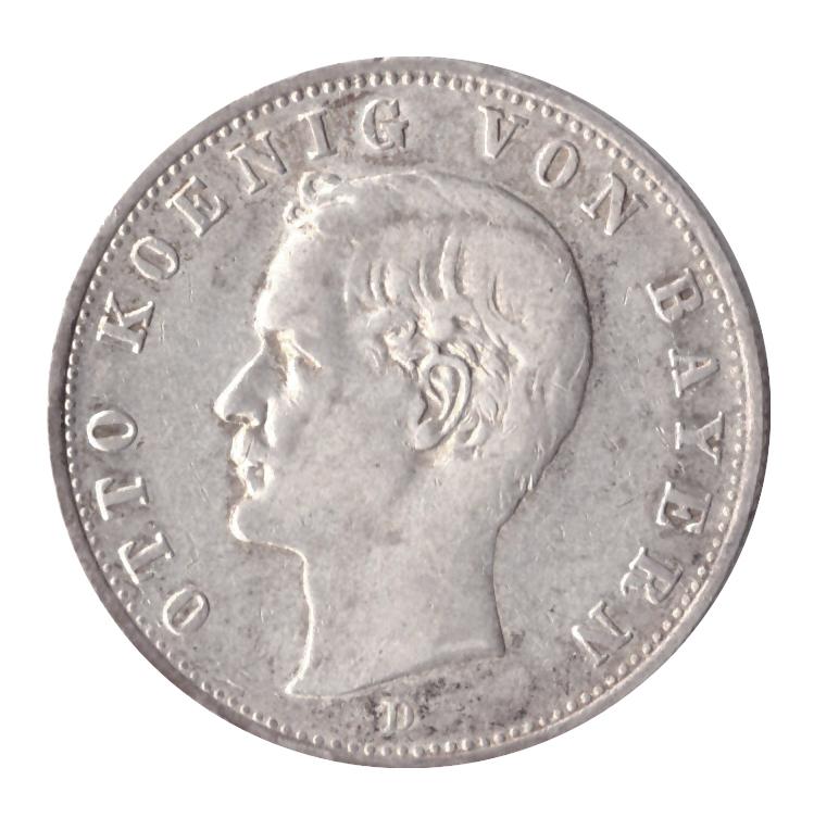 2 марки 1907 год (D), Германия-Бовария (Король Отто). XF