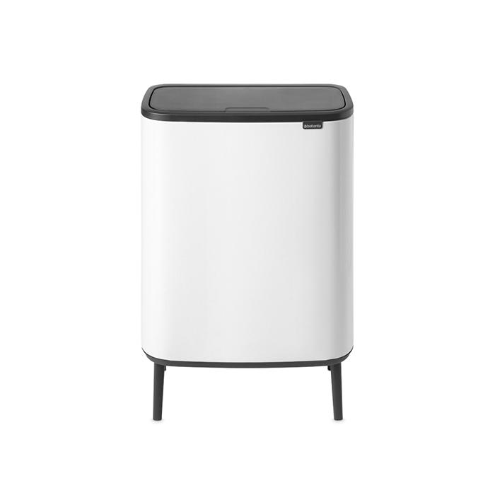 Мусорный бак Touch Bin Bo Hi (2 х 30 л), Белый, арт. 130601 - фото 1
