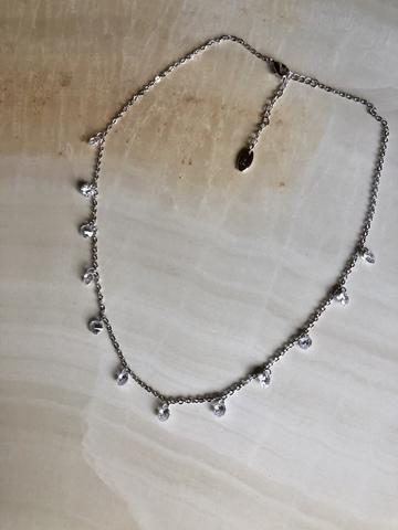Колье Эльза, серебряный цвет