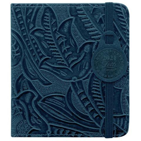 Еженедельник Letts Baroque 100x90мм кремовые стр фикс резинка синий (412 151820)
