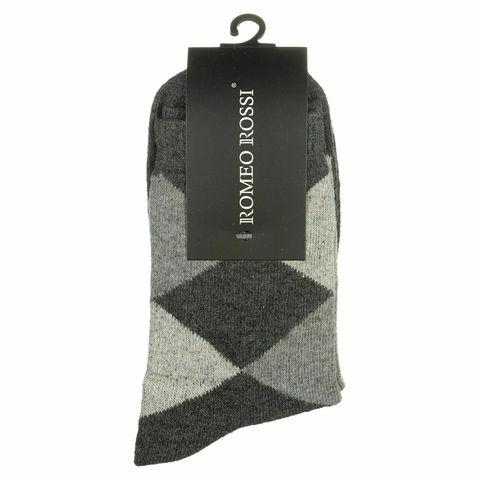Мужские носки темно-серые ROMEO ROSSI с шерстью 8046-4