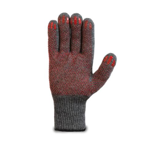 Перчатки шерстяные одинарные с антискользящим покрытием