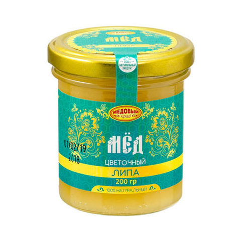 Липовый натуральный мёд 200 г