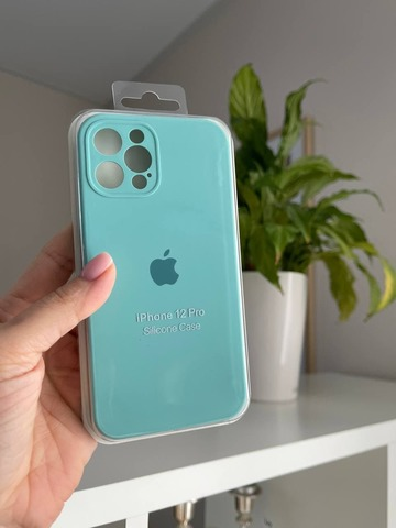 iPhone 12 Pro Silicone Case Full Camera /sea blue/