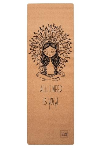 Пробковый коврик для йоги Boho Girl 183*61*0,3 см