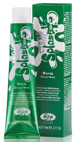 Оттенок Зеленый Крем-краска для волос чистый пигмент Lisap Splasher 60мл