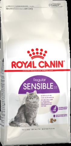 Royal Canin Sensible 33 сухой корм для взрослых кошек с чувствительной пищеварительной системой 4 кг