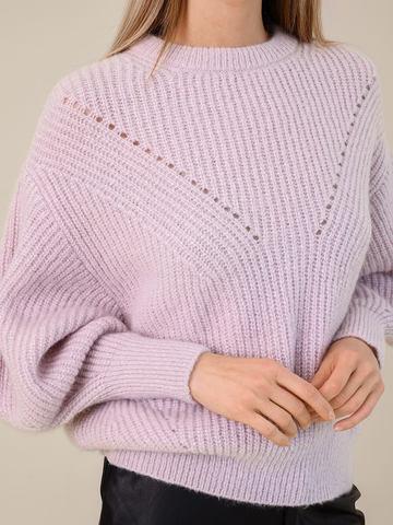 Женский джемпер светло-розового цвета из мохера - фото 3