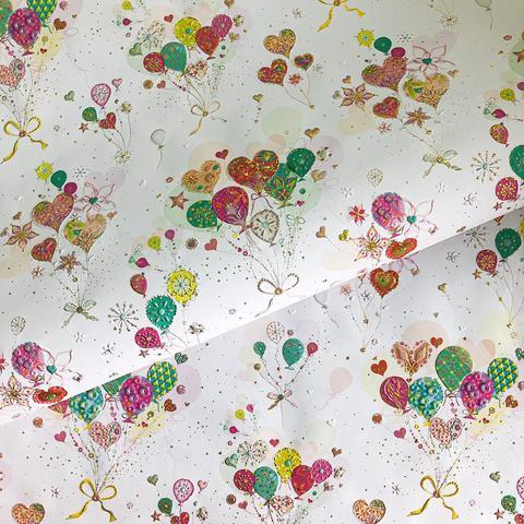 Бумага подарочная Воздушные шарики