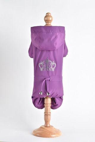 Royal Dog Дождевик флисовый со стразами фуксия размер M