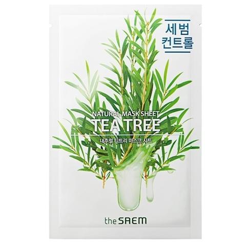 Маска для лица  с экстрактом чайного дерева Natural Tea Tree Mask Sheet