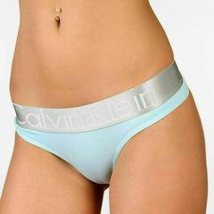 Женские трусы стринги светло-голубые Calvin Klein Women String SKY BLUE