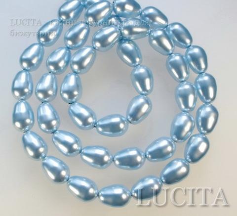 5821 Хрустальный жемчуг Сваровски Crystal Light Blue грушевидный 11х8 мм ()
